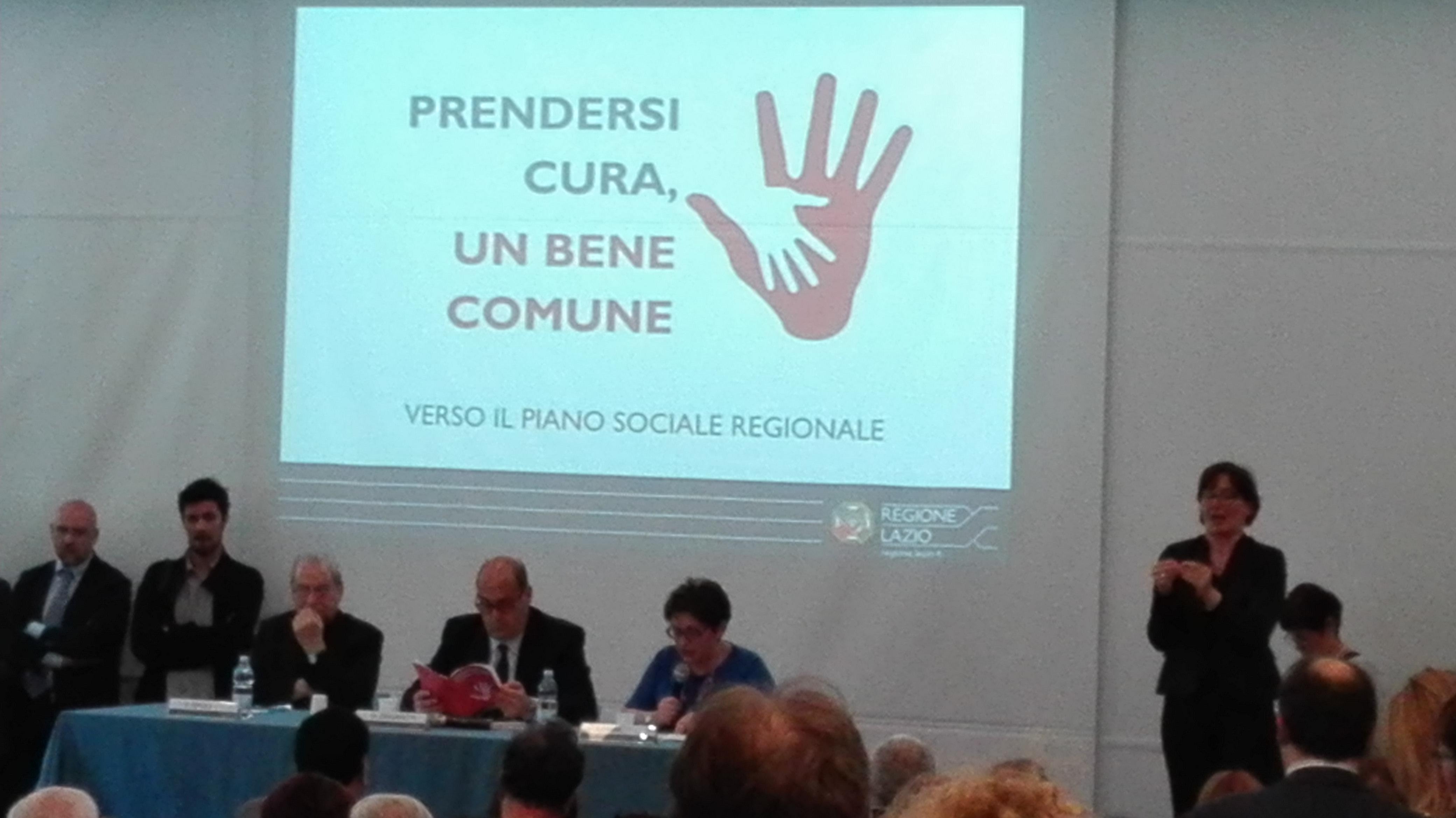 Prendersi cura, un bene comune - evento lancio Piano sociale Regione Lazio