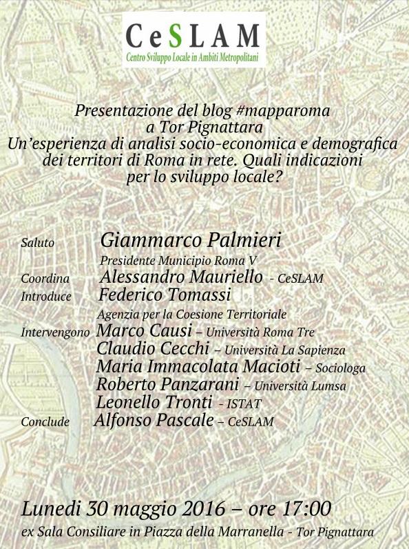 Programma Presentazione del blog #mapparoma