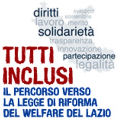 Riforma del welfare della Regione Lazio
