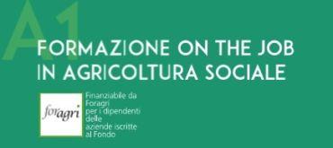 Formazione on the job in Agricoltura Sociale finanziata con i voucher FOR.AGRI