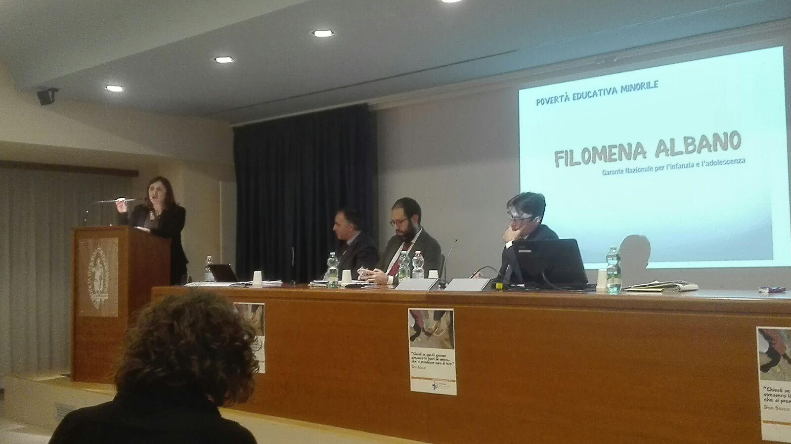 La tavola rotonda sulla povertà educativa all'Università salesiana di Roma