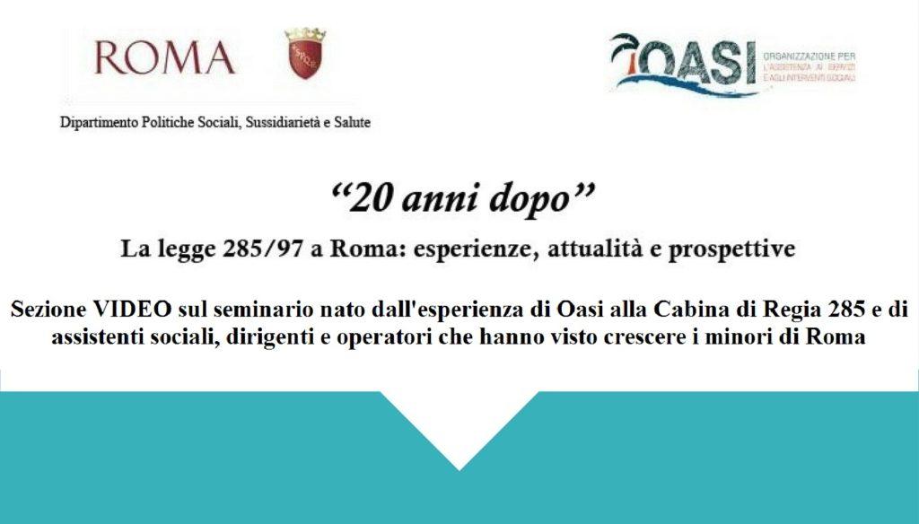 20 anni di legge 285 a Roma