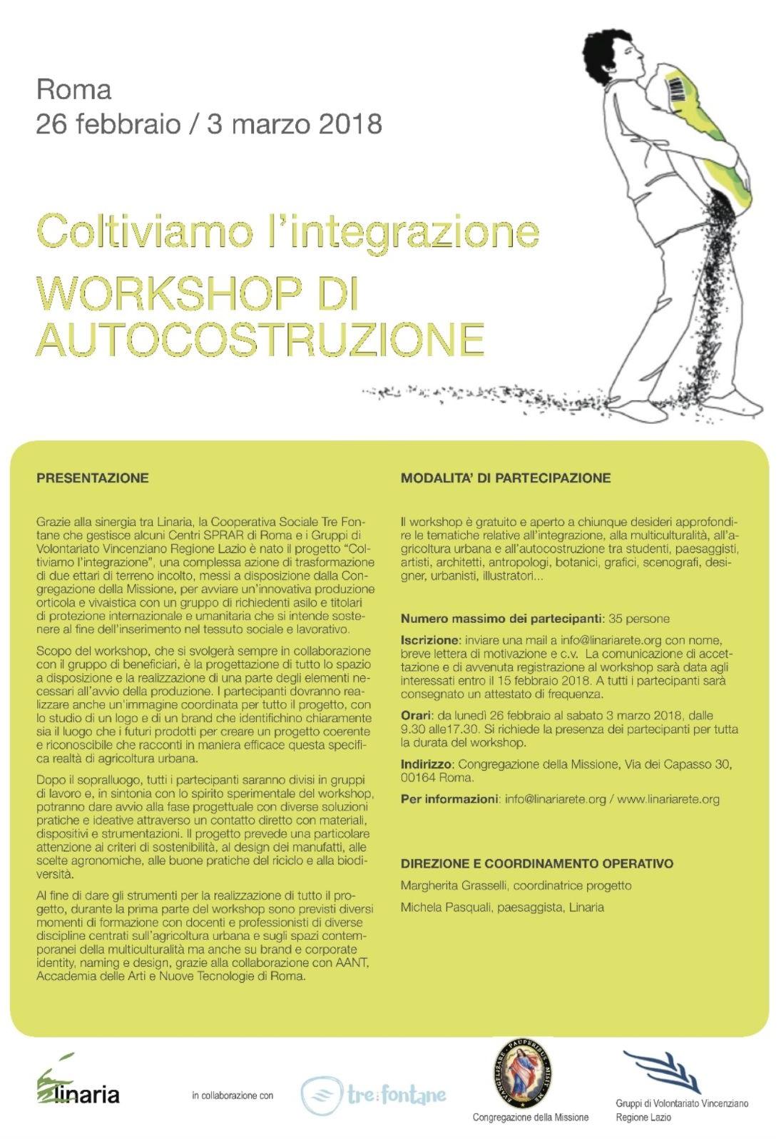 Locandina del workshop Coltiviamo l'integrazione