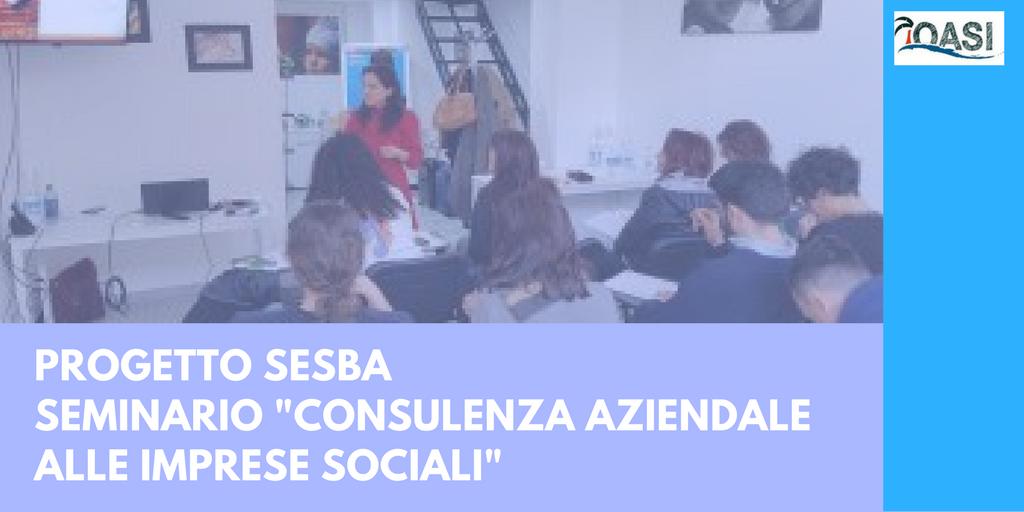 Consulenza aziendale alle imprese sociali - Seminario per il progetto Sesba