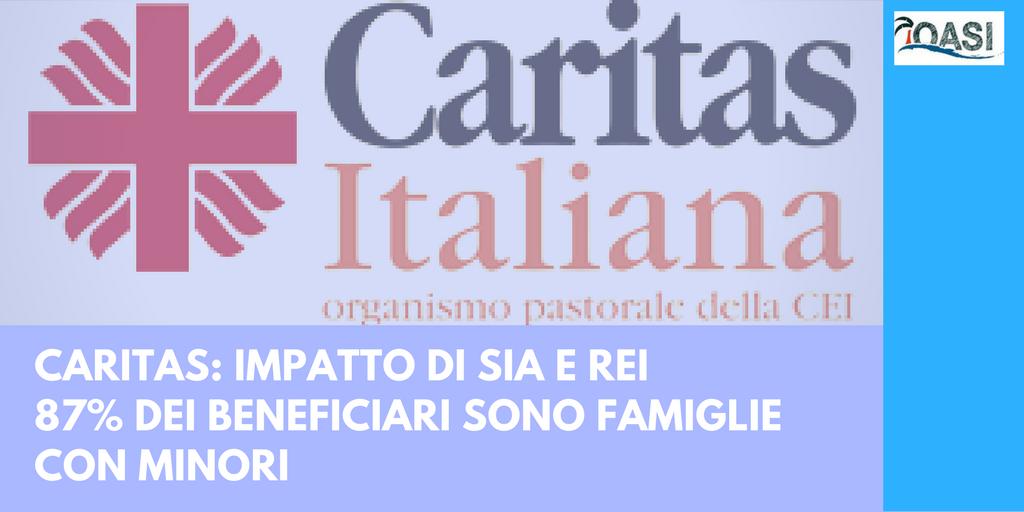 Il rapporto della Caritas Italiani sui beneficiari del Sia e del Rei
