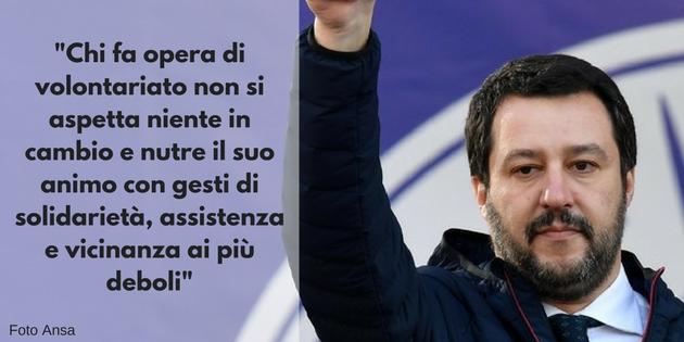 Cosa pensa Salvini del Terzo Settore