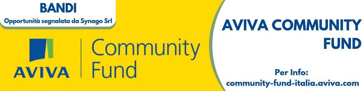 Finanziamenti e fondi per non profit - Aviva Community Fund 2019