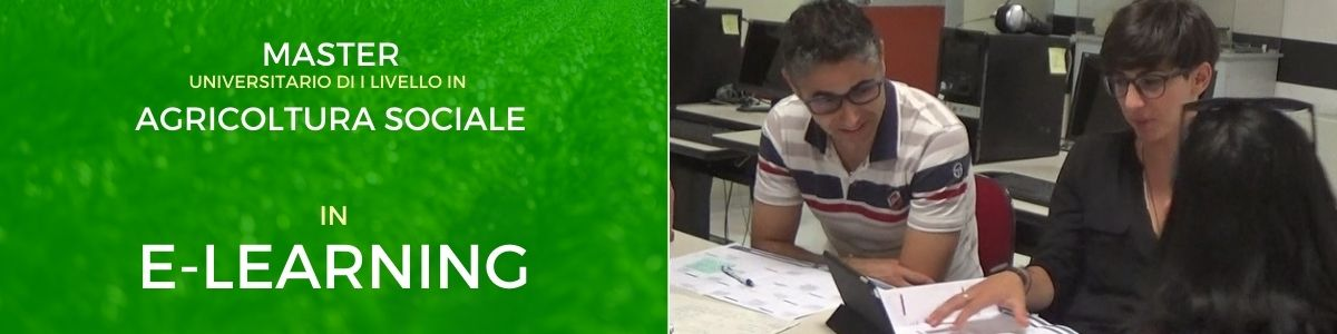 Master Agricoltura Sociale online in e-learning