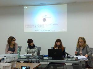 Ilaria Graziano, Cecilia Stajano e Ilaria Gaudiello di Fondazione Mondo Digitale